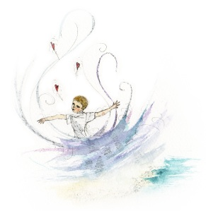 Newest image from upcoming REWORKD Press children's book by Gemma Stuart - The Hugging Sea