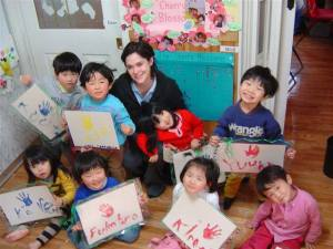 The first kids I had the pleasure of teaching to read. Japan, 2004.